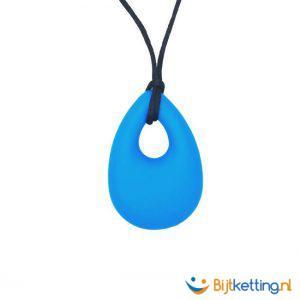 bijtketting druppel drip chewelry blauw