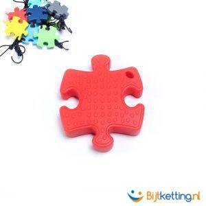 2240 bijtketting puzzle siliconen rood