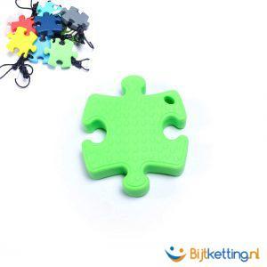 2241 bijtketting puzzle groen