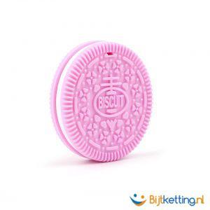 2255 bijtketting koek koekje roze