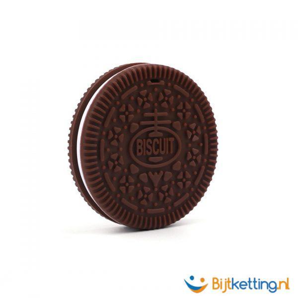 2257 bijtketting koek koekje chocolade bruin