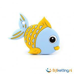 2269 bijtketting vis cartoon blauw met geel