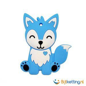 2274 bijtketting kinderen kleuter vos blauw