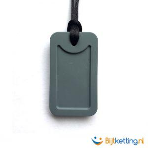 bijtketting army dog tag grijs