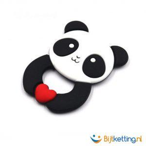 2282 bijtketting panda zwart met wit kinderen