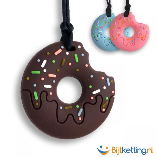bijtketting donut 3 kleuren