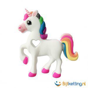 2346 bijtketting Eenhoorn Unicorn wit regenboog
