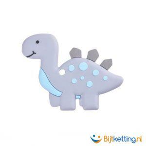 2369 bijtketting dino dinosaurus grijs met blauw