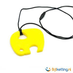 2371 bijtketting kauwketting olifant geel