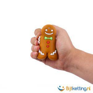 2417 bijtketting gingerbread man kruidkoek taai taai detail
