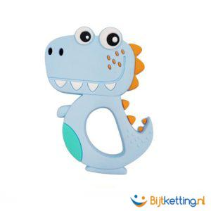 2429 bijtketting kauwketting dinosaurus cartoon blauw