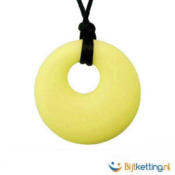 bijtketting ovaal geel