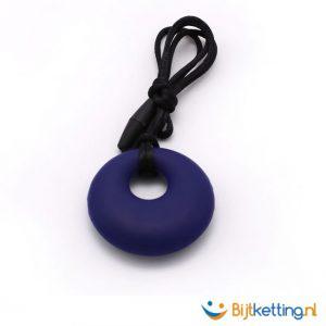 ronde bijtketting cirkel round violet donkerpaars
