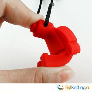 bijtketting lego poppetje lego mannetje flexibel