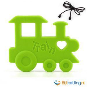 bijtketting trein groen